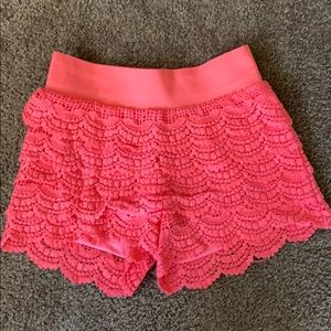 Wet Seal Crochet Shorts